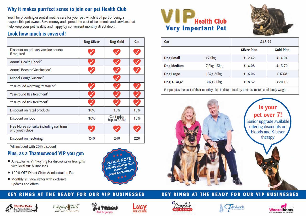 VIP Pet Health Club at Thameswood Vets